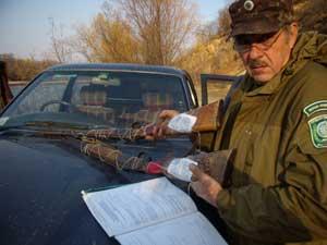 Изъятое браконьерское оружие