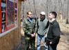 (слева-направо) директор парка Юрий Берсенев объясняет схему работы на кордоне «Милоградовский» Петру Шарову (ДВФЭЗ) и Денису Литвинову (Росприроднадзор)